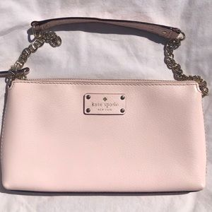 Light pink Kate spade short strap purse